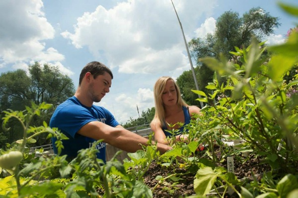 インディアナ州立大学の生徒2名がアクアポニックス企業「Greener Scenes Aquaponics」の調査アシスタントに。地域ビジネスと未来の農業に関わる